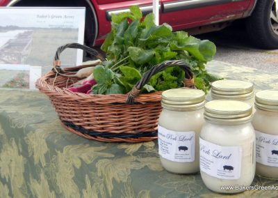 Mangalitsa lard is white, clean smelling and tasting, and the best for baking and frying.