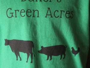 cows, pigs, chickens, farm t-shirt