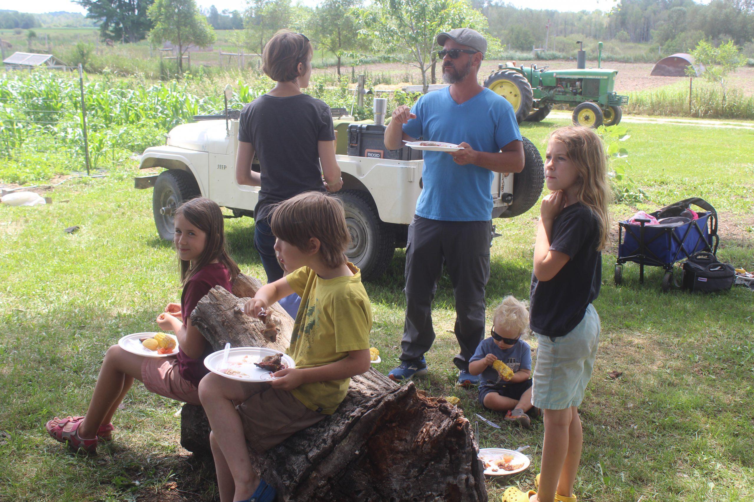 community homestead hog harvest gathering
