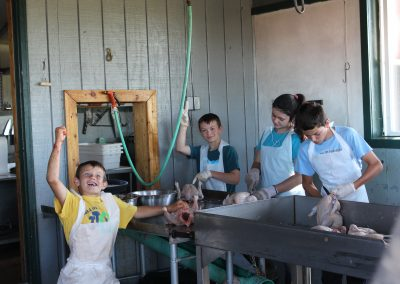 Poultry Processing at Bakers Green Acres Michigan homeschool homestead