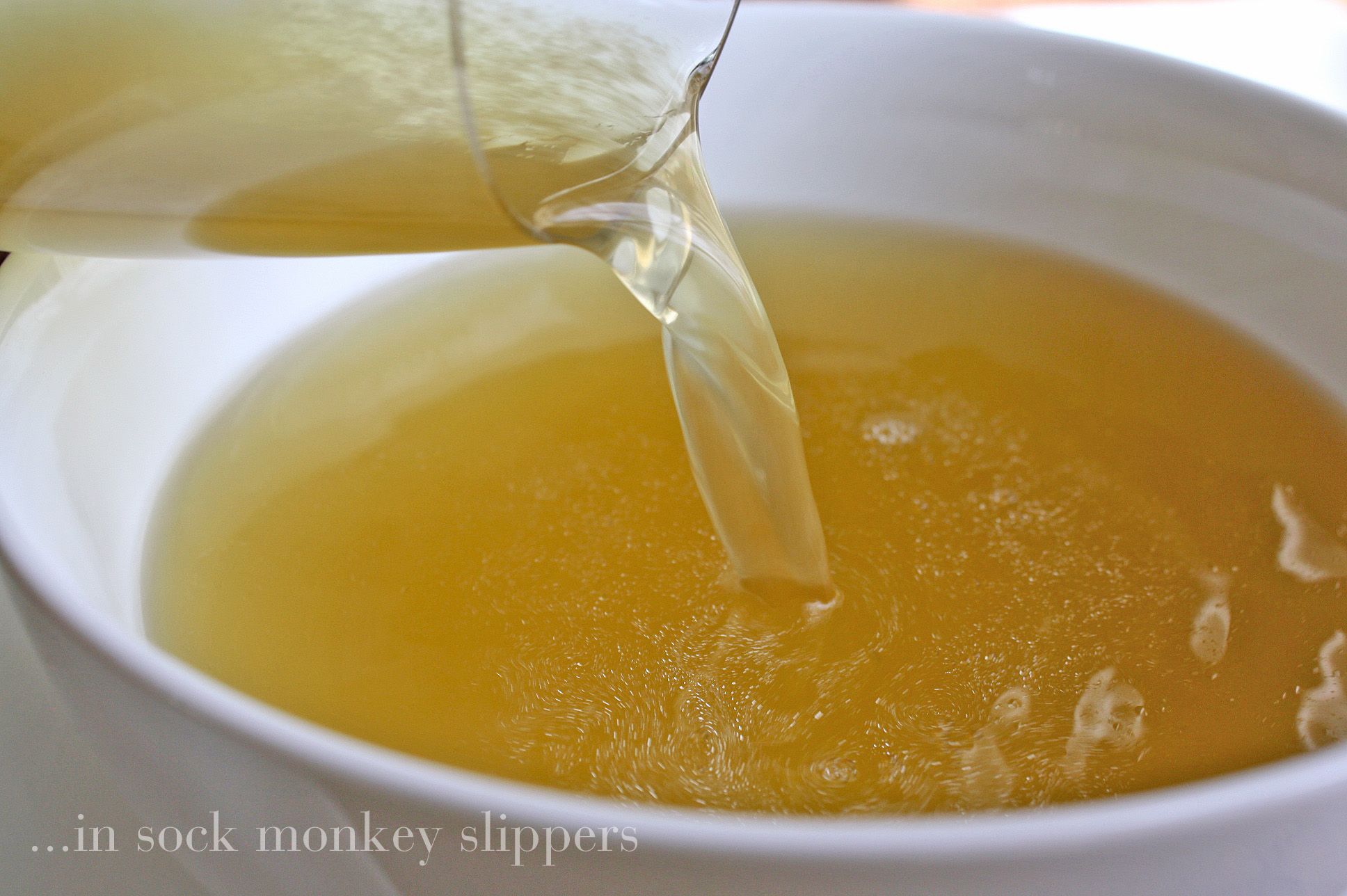 clear chicken bone broth